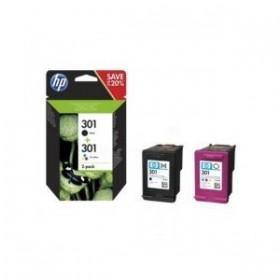 HP N9J72AE / 301 - Pack Cartouches Originales Noire et Couleur