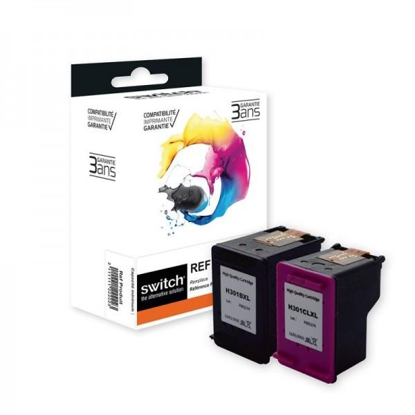 HP 301XL - remanufacturé Switch - Pack de - noir, cyan, magenta, jaune - cartouche d'encre