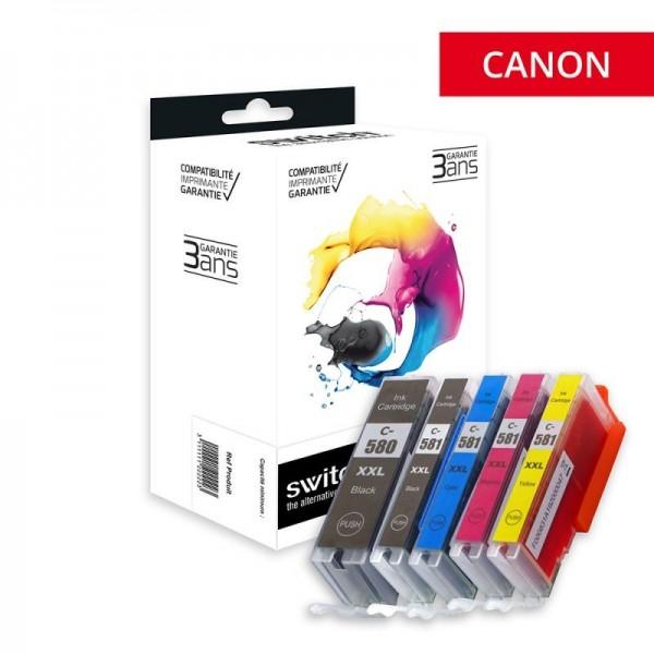 PGI-580XXL / CLI-581XXL Cartouches encre Compatible Canon -Marque Switch Haute Capacité