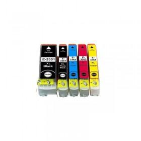 T3357 XL / T33XL  Pack 5 Cartouches Compatibles Epson - Série Orange