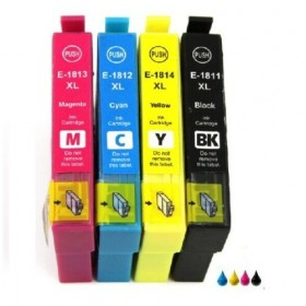 18XL  T1815  4 Cartouches  Compatible Multipack Epson Premium Grande Capacité