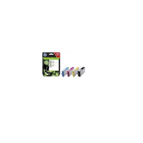 HP 364 XL / N9J74AE Noire et Couleurs Pack de 4 cartouches origine