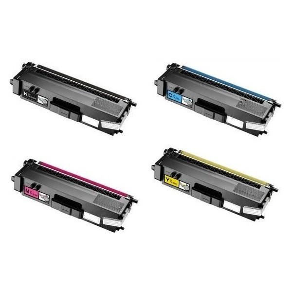 TN-325 Pack 4 Toners Compatible Brother (1 x noir,1 x Cyan,1 x Magenta,1 x Jaune)