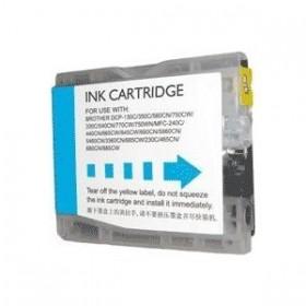 Compatible Brother LC970/LC1000  Cyan Cartouche d'encre  Premium Grande Capacité