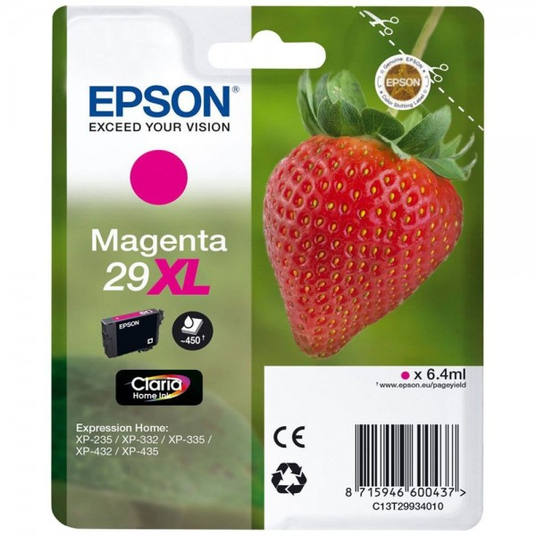 Cartouche d'encre EPSON T29 - Fraise magenta original T2993