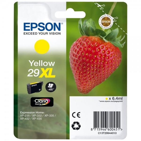 Cartouche d'encre EPSON T29 - Fraise jaune original T2994