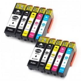 Epson 33XL cartouches encre compatibles - Lot de 10