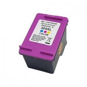 HP 304XL Couleur Cartouche Remanufacturée Grande Capacité