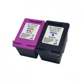 HP 304XL Noir Couleur Cartouche Remanufacturée Grande Capacité