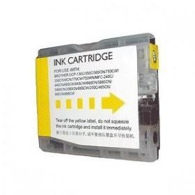 Compatible Brother LC970/LC1000  Jaune  Cartouche d'encre  Premium Grande Capacité