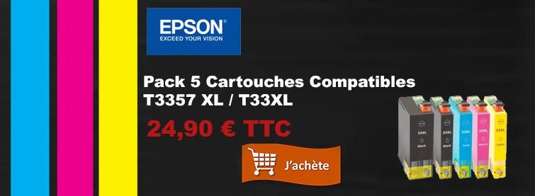 Cartouche d'encre Premium. Volume  25ml + 4x15 ml. Couleur Jaune